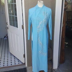 VINTAGE 1960'S MANDRINE STYLE DRESS